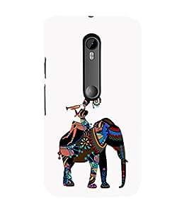 EPICCASE elephant case Mobile Back Case Cover For Moto X Play (Designer Case)