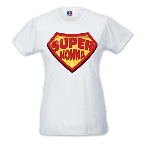 T-Shirt Donna Idea Regalo Festa Dei nonni Super Bianca