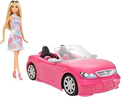 Barbie Muñeca+Descapotable Rosa (Mattel FPR57)