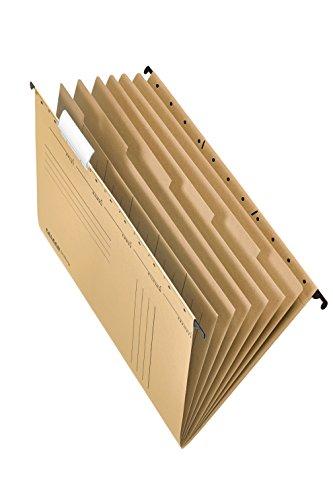 Falken Projektmappen und Personalmappen UniReg aus Recycling-Karton für DIN A4 seitlich offen braun Blauer Engel Schrank Behörde ideal für die lose Blatt-Ablage im Büro und der Behörde