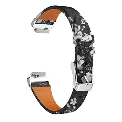 TianranRT Drucken Leder Watchen Bänder Armband Riemen Für Fitbit Inspire/Inspire HR (Schwarz) - Drucken Boys Band