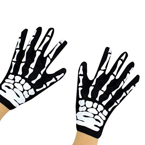Vxhohdoxs Unisex Halloween Cosplay Kostüm Skelett Dämon Geist Hexe Umhang Maske Handschuhe Fake Nägel Party Trick Requisiten Zubehör Set - Dämon Hexe Kostüm