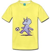 Petit Dinosaure Joue Au Foot Tricératops T-shirt Premium Enfant de Spreadshirt®