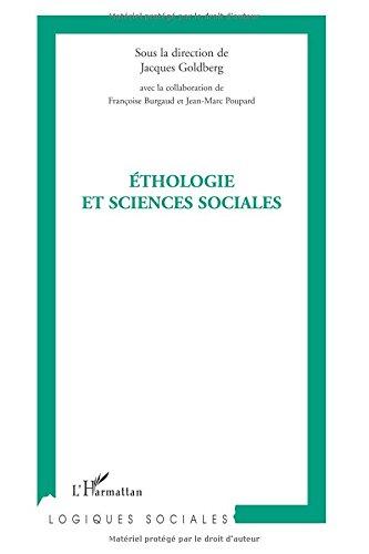 Ethologie et sciences sociales : Journe d'tudes interdisciplinaires autour de l'homme et de l'animal