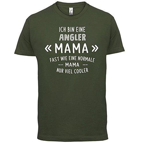 Ich bin eine Angler Mama - Herren T-Shirt - 13 Farben Olivgrün