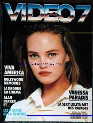 VIDEO 7 [No 103] du 01/09/1990 - VANESSA PARADIS - VIVA AMERICA - HOLLYWOOD MEMORIES - LA DROGUE AU CINEMA - ALA PARKER - LES 7 STARS DE LA RENTREE.