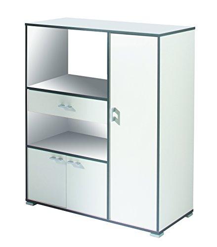 demeyere Buzz Küchenschrank, Spanplatte und Melamin, Weiss, 90 x 112 x 40 cm -