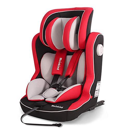 Meinkind Autositz Kinderautositz 9-36kg(9 Monate-12 Jahre), universal, Kindersitz mit isofix, Gruppe 1 2 3, ECE R44/04 geprüft(Rot)