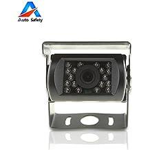 Auto Safety® HD CMOS parcheggio obiettivo, Vista posteriore di sostegno d'inversione HD fotocamera con taglio di IR LED per camion dell'automobile camion pick-up di bus di veicolo Caravans, impermeabile, HD notturna a raggi infrarossi di visione DC 9V - 36V Tensione larga