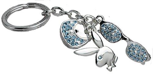 Playboy-Schlüsselanhänger mit Sonnenbrille, Handtasche und Playboyhase
