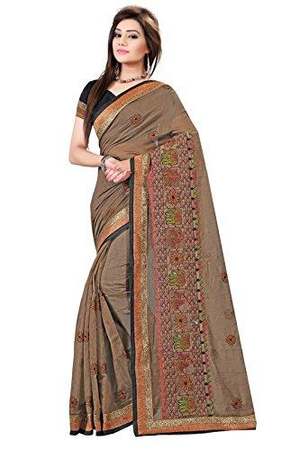 Indian Fashionista Cotton Silk Saree (Prjinal11031360_Coffee)