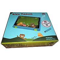 تابلت هواوي للأطفال بقياس 7 بوصة ميديا باد تي 3 بشاشة مقاس 7 بوصة وذاكرة داخلية سعة 8 غيغابايت، مزود بخاصية واي فاي، لون رمادي مع علبة باللون الأزرق
