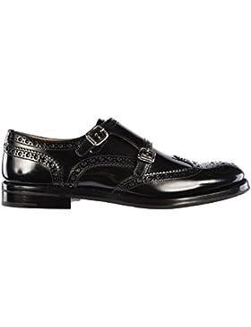 Church's scarpe classiche donna nuove pelle monkstrap nero