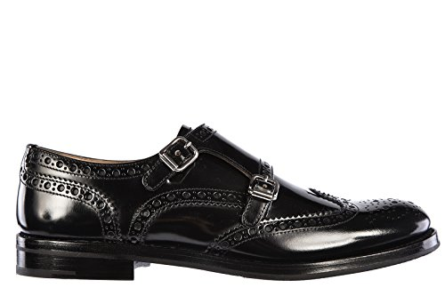 Church's scarpe classiche donna nuove pelle monkstrap nero EU 41 A73960