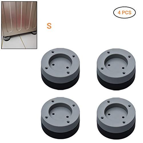 Neborn Universal-Waschmaschine, Anti-Vibrations-Füße für Waschmaschine/Trockner/Pads/Waschmaschine/Matte/Ablage/Halterung/Stabilisator/Pedale für Vibration und Anti-Caminat. S(2cm) Schwarz
