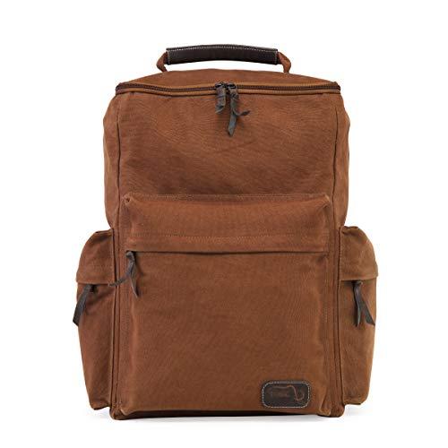 TUSC Europa Rucksack Segeltuch Canvas Tasche XL Büro Laptoptasche Schultasche Schulrucksack Herren Damen Unisex Backpack Daypack Hiking Größe 31x47x21cm