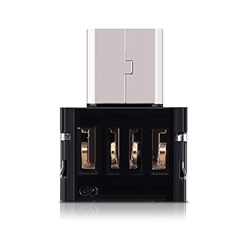 kwmobile 3x Adaptateur micro-USB OTG pour smartphone et tablette comme Samsung, Huawei, LG, HTC et Sony
