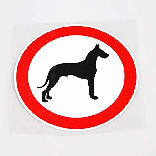 Ayuop Auto Aufkleber 12,2 cm * 12,2 cm einzigartige Tier Hund warnung dekor Auto Aufkleber Aufkleber PVC wasserdicht -