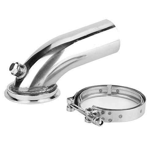 Akozon 3 '' Edelstahl Downpipe Elbow V-Band Adapter Flansch Clamp Fit für Turbo HY35 HX HE351 Abgasrohrleitungen