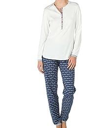 Calida Damen Zweiteiliger Schlafanzug Pyjama Bündchen Frieda
