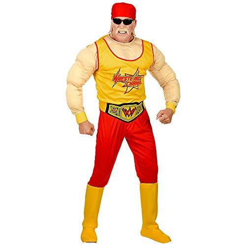 Fancy Dress Kostüm Wrestling Herren - Widmann 02554 Erwachsenenkostüm Wrestling Champ, Herren, Rot/Gelb