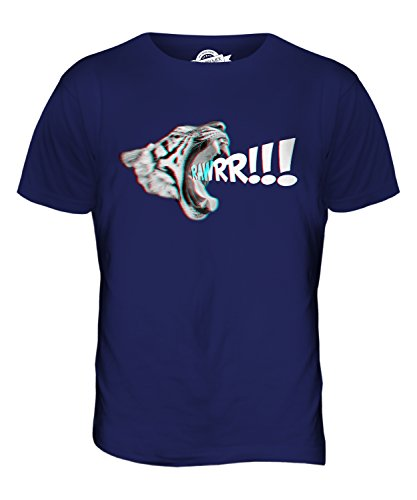 CandyMix 3D Tigre T-Shirt da Uomo Maglietta Blu Navy