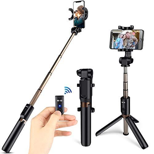 Bluetooth Selfie Stick Stativ,ONSON  3 in 1 Handy Stativ Erweiterbar Monopod 360°Rotation mit Bluetooth-Fernauslöse für iOS Android Samsung und die meisten 3,5-6 Zoll Smartphones
