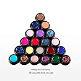 Saint-Acior 36 Farben UV Gel Farbgele Set UV Nagelgel Nagellack Nail Polish Kits Gelnägel Set