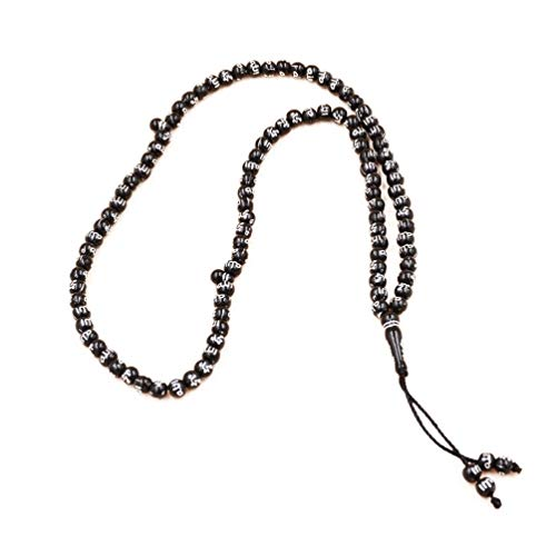 Kesheng Collier Prière De Graines De Perles Couleur Noir Tasbih Pierre