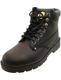 Sécurité Ambleurs - Chaussures De Protection En Cuir Pour Les Hommes, Couleur Noire, Taille 39.5