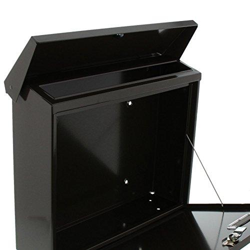 BURG-WÄCHTER, Briefkasten mit Öffnungsstopp, A4 Einwurf-Format, Verzinkter Stahl, Amsterdam 867 BR, Braun - 4