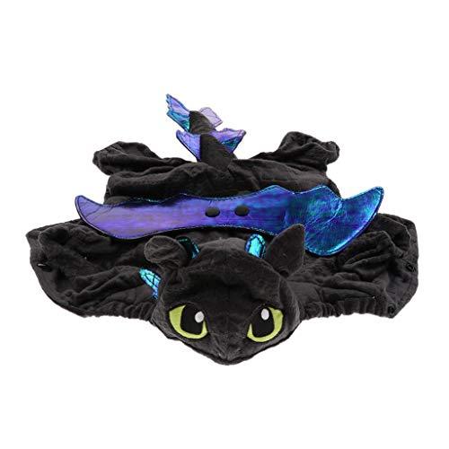 Drachen Kleine Kostüm - Homyl Halloween Hundekleidung Hundekostüm Katzenkostüm Haustier Drachen Cosplay Kleidung - Schwarz, M