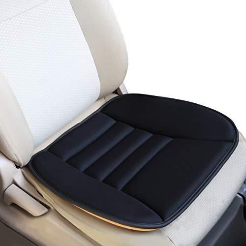 KOYOSO Cuscino Sedile Auto, Coprisedile Auto Schiuma di Memoria, Supporto Comodo per Auto Casa Ufficio - Nero 1 Pacco