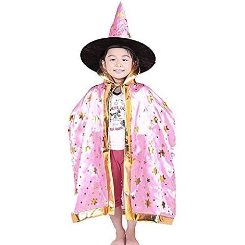 Kinder Halloween Umhang Cape mit Kapuze ca. 80 cm Einheitsgröße 8-10 Jahre (Alte Frau Kostüm Diy)