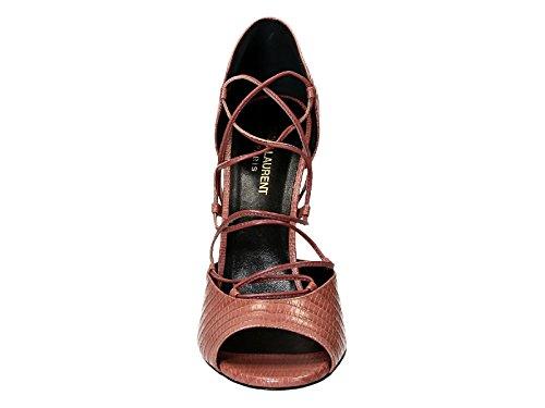 Sandales à talons hauts Saint Laurent en cuir Rose - Code modèle: 427789 CJ500 6234 Rose moyen