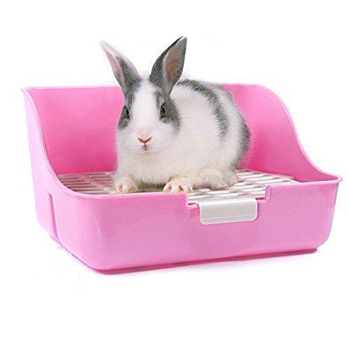 MMBOX, Lettiera da gabbia per conigli, Facile da pulire, Gadget per i bisogni di animali di piccola taglia/conigli/porcellini d'India/furetti.
