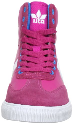 Lico 180252, Baskets mode fille Rose (Pink/Blau/Weiss)
