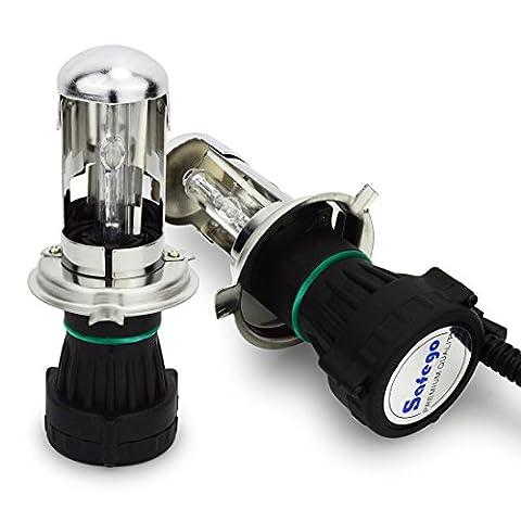 Safego 55W H4 H/L HID Bi Xénon Ampoules Phares H4-3