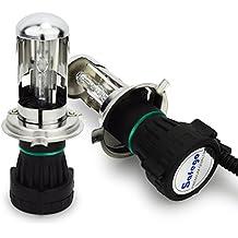 Safego 55W H4 Lampadine di Ricambio Bi-xenon HID FARI XENO H4-3 8000K H/L bianco freddo (Kit Xenon Bi)