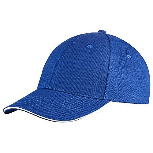 Baseball Kostüm Yankees - famvis Style Klassische Baseball Cap für Damen und Herren aus reiner Baumwolle, verstellbar, Basecap Kappe Mütze Hut blau