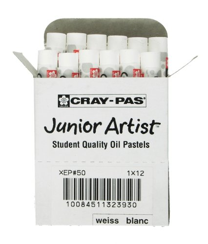 Sakura XEP-050 Cray-Pas Junior Öl-Pastellkreide, Weiß, 12-teilig