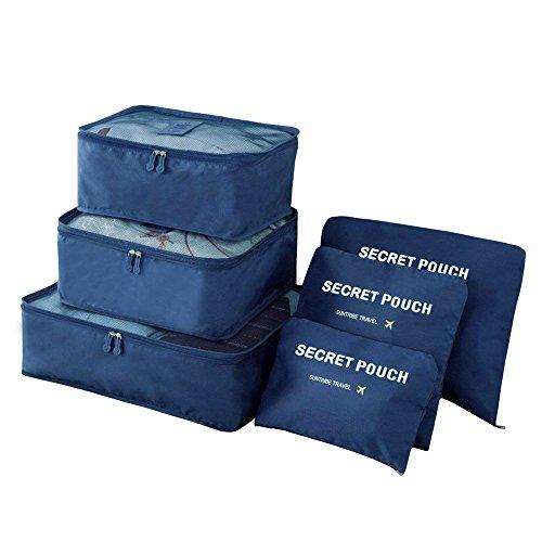 Xnuoyo 6 Set Cubos de Embalaje Organizadores de Equipaje de Viaje Acce