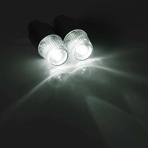 Inovey Reifen Reifen Ventilschaft Kappen Neonlicht Cover Fahrrad Motorrad Led - Weiß