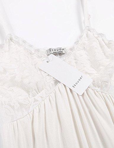 Ekouaer Damen Nachthemd XX-Large Weiß
