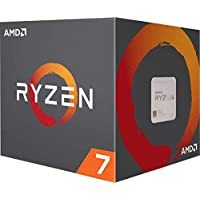 AMD Ryzen 7 3rd Gen 3800X 3.9 GHz, 8 Core AM4,Socket AM4, Max Boost Frequency 4.5GHz, DDR4 Support, Cache 32MB Thermal Design Power 105W With Wraith Prism cooler