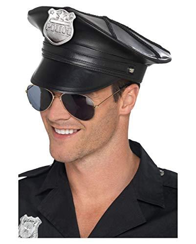 Horror-Shop Special US Polizei-Mütze | Kunstleder | One Size