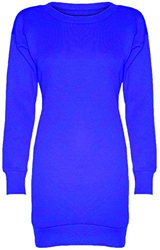 Ladies Baseball Print Handytasche Newyork Brooklyn Bulls Oversize Long Thermo-Pullover, Tops, Gr. Blau - Königsblau