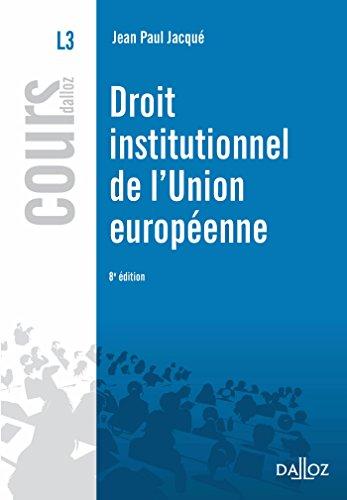 Droit institutionnel de l'Union européenne (Cours)