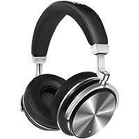 Bluedio T4S (Turbine) Auriculares Bluetooth Inalámbricos Giratorios con Cancelación activa de ruido y Micrófono integrado (Negro)