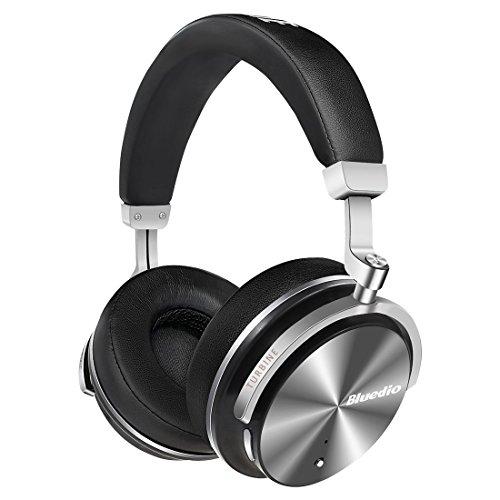 Bluedio T4S (Turbine)Bluetooth Kopfhörer Active Noise Cancelling Wireless Kopfhörer mit Drehbare Ohrpolster,Over-Ear, eingebaute Mikrofon (Schwarz)